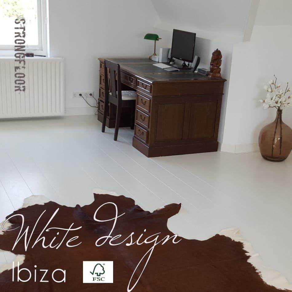 white design ibiza eiken duoplank dekkend wit gesp