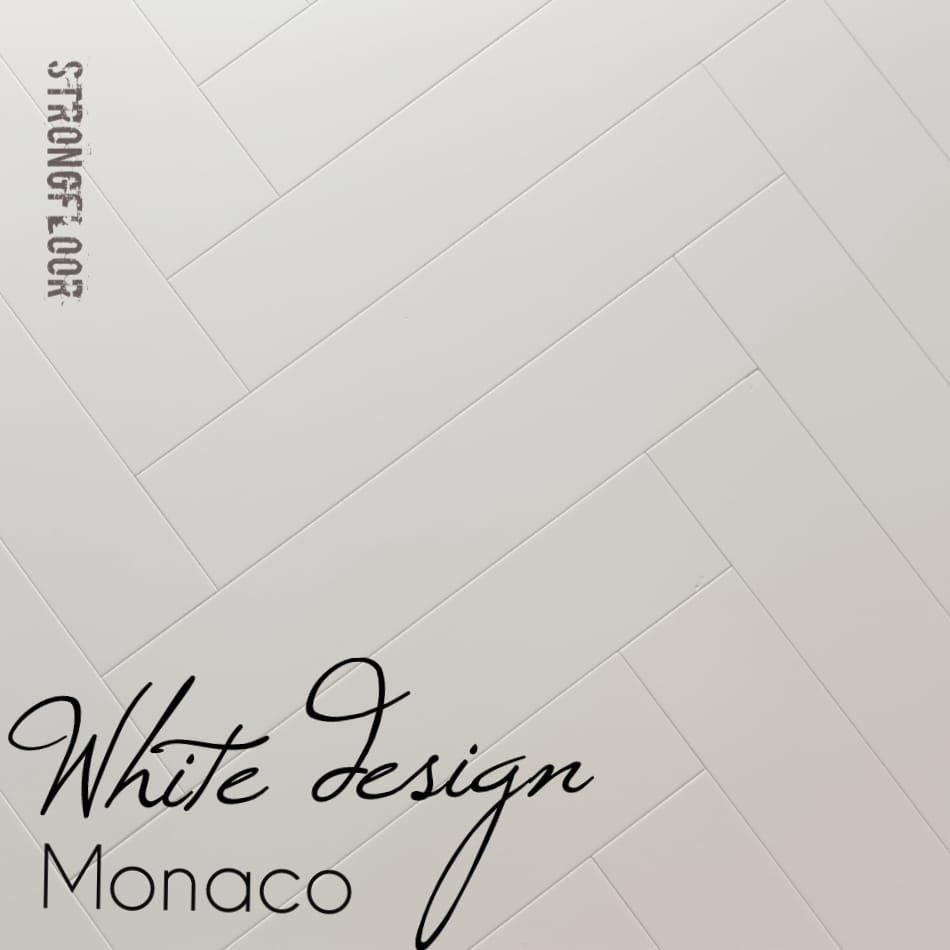 white design monaco eiken visgraat dekkend wit ges